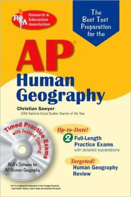 AP Human Geography w/ CD-ROM (REA) - The Best Test Prep