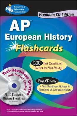 AP European History Premium Flashcard Book with CD