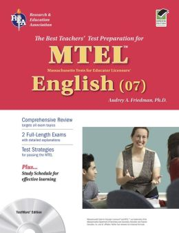MA MTEL English W/CD (REA): The Best Teachers' Test Prep for the MTEL