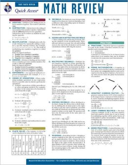 Quick Access: Math Review
