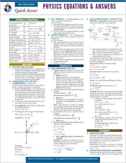Quick Access: Physics Equations and Answers