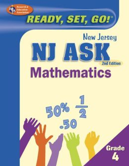 NJ ASK Grade 4 Mathematics, 2nd Edition (REA) - Ready, Set, Go!
