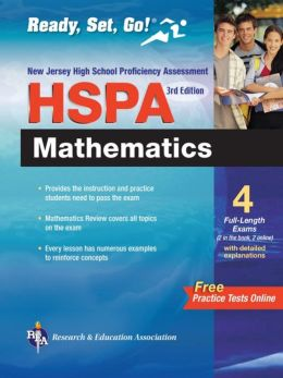New Jersey HSPA Math with Online Practice Tests 3rd Ed