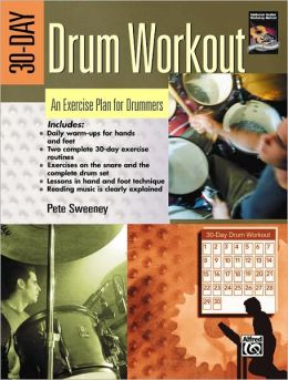 30-Day Drum Workout (An Exercise Plan for Drummers): Book & DVD