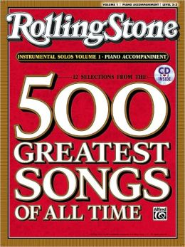 Selections from Rolling Stone Magazine's 500 Greatest Songs of All Time (Instrumental Solos), Vol 1: Piano Acc., Book & CD