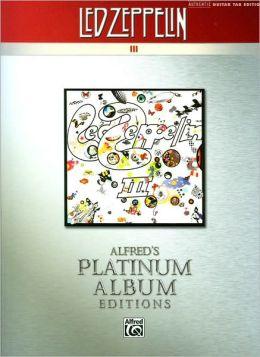 Alfred's Platinum Album Editions: Led Zeppelin III