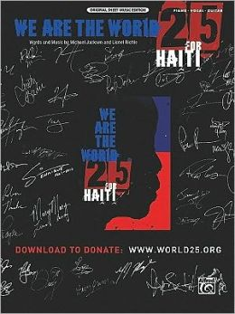 We Are the World 25 for Haiti: Piano/Vocal/Guitar, Sheet