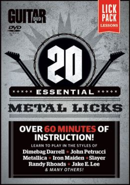 Guitar World -- 20 Essential Metal Licks: Over 60 minutes of instruction!, DVD