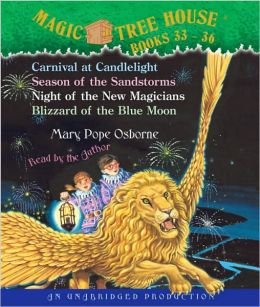 Magic Tree House: #33 Carnival at Candlelight; #34 Season of the Sandstorms; #35 Night of the New Magicians; #36 Blizzard of the Blue Moon