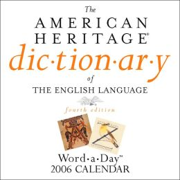 2006 American Heritage Dictionary Box Calendar