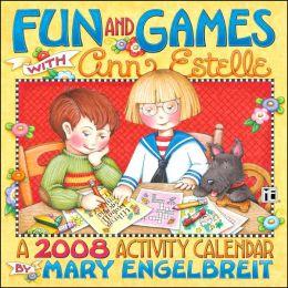2008 Mary Engelbreit Fun & Games With Ann Estelle Wall Calendar