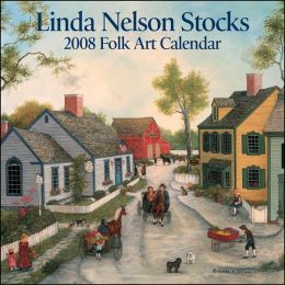 2008 Linda Nelson Stocks Folk Art Mini Wall Calendar
