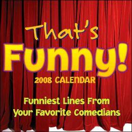 2008 That's Funny Box Calendar