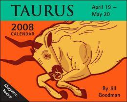 2008 Horoscope: Taurus Mini Box Calendar