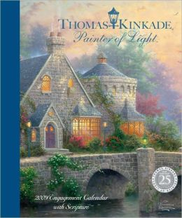 2009 Thomas Kinkade Painter of Light (w/ Scripture) Desk Calendar