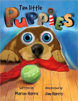 Ten Little Puppies Board Book: An Eyeball Animation Book