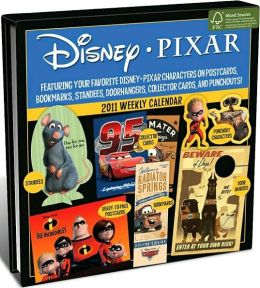 2011 Pixar Weekly postcard Box Calendar