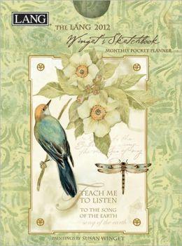 2012 Winget's Sketchbook Monthly Pocket Planner Calendar