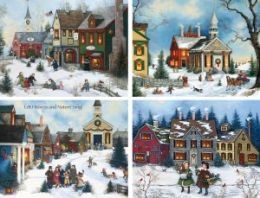 Folk Art Assortment Christmas Boxed Card
