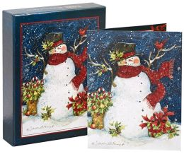 Snowman Scarf Christmas Boxed Card