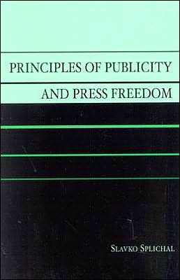 Principles of Publicity and Press Freedom