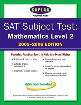 SAT Subject Tests: Mathematics Level IIC 2005-2006