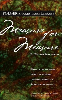 Measure for Measure (Folger Shakespeare Library Series)