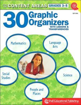 30 Graphic Organizers for the Content Areas 3-5 (Book with Transparencies)