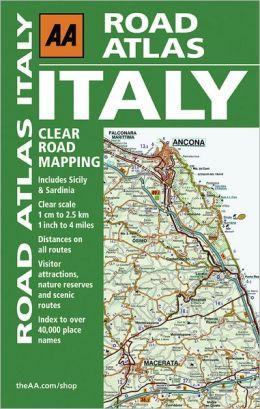 AA Road Atlas Italy