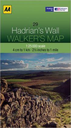 Walker's Map Hadrian's Wall