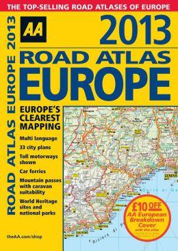 2013 Road Atlas Europe