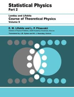 Statistical Physics, Part 2: Volume 9