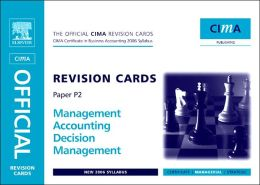 CIMA Revision Cards Mangement Accounting Decision Management