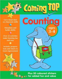 Coming Top Counting Ages 3-4: Plus 30 coloured stickers for added fun and value