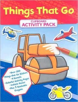 Clip Board Activity Kit: Things That Go: Coloring and Activity