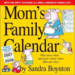 2008 Mom's Family Calendar Wall Calendar