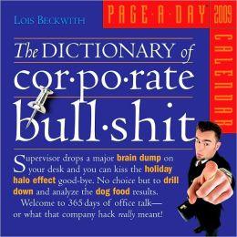 2009 Corporate Bullshit Page-A-Day Calendar