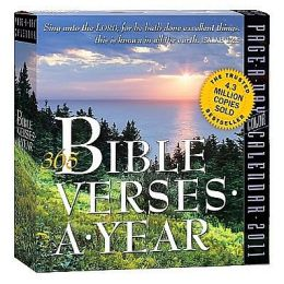 2011 365 Bible Verses-A-Year Page-A-Day
