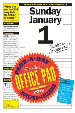 2012 The Busy Office Pad Page-A-Day Notepad + Calendar