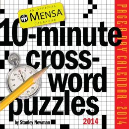 2014 Mensa 10-Minute Crossword Puzzles Page-A-Day Calendar