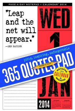 2014 365 Quotes Page-A-Day Notepad Calendar
