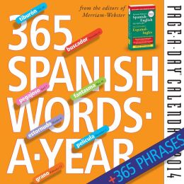 2014 365 Spanish Words-A-Year Page-A-Day Calendar