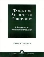 Tables for Students of Philosophy: A Supplement to Philosophical Discussion