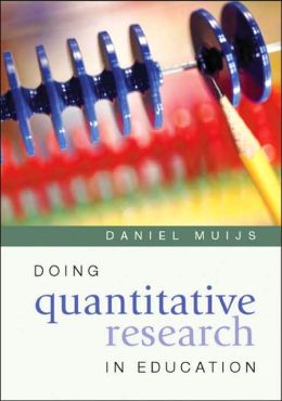 Doing Quantitative Research in Education: with SPSS