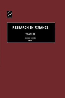 Research in Finance, Volume 20