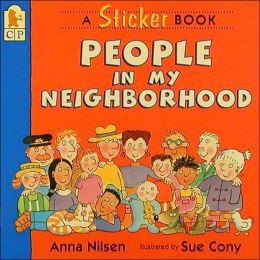 People in My Neighborhood Sticker Book
