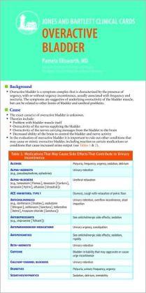 J & B Clinical Card: Overactive Bladder