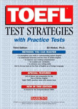 Barron's TOEFL Test Strategies with Practice Test Book