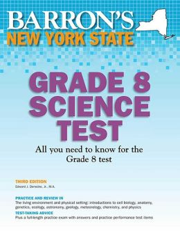 Barron's New York State Grade 8 Science Test, 3rd Edition