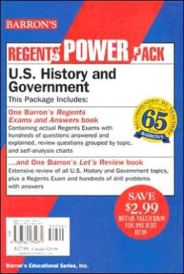 Barrons Regents Power Pack U.S. History and Government